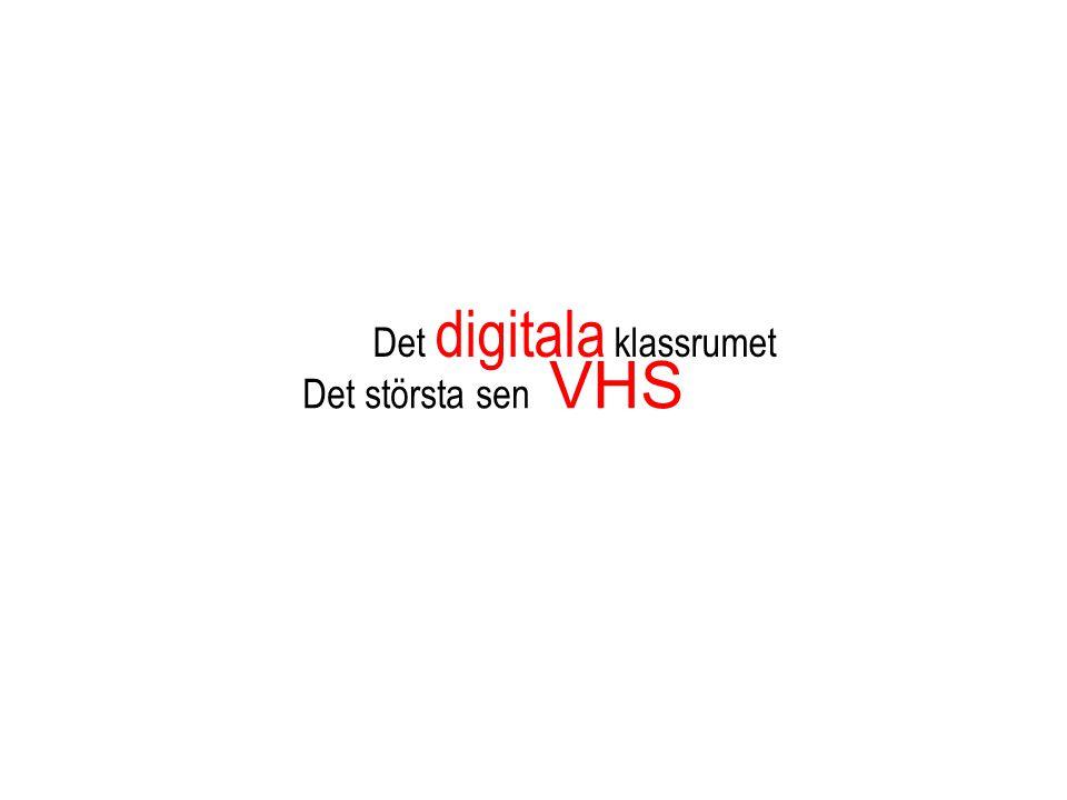 Det största sen VHS Det digitala klassrumet
