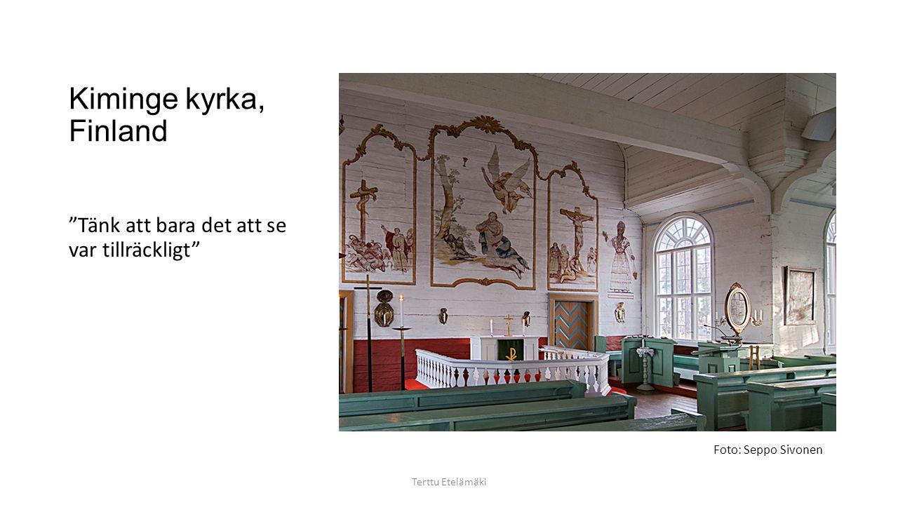 Jokkmokk kyrka, Sverige Enligt Luther bör bilden tjäna åskådliggörandet av Bibelns händelser. Terttu Etelämäki Foto: Terttu Etelämäki