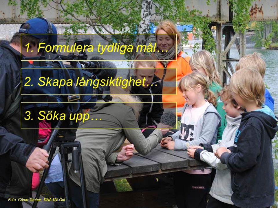 1. Formulera tydliga mål… 2. Skapa långsiktighet… 3. Söka upp… Foto: Göran Gruber, RAÄ UV Öst