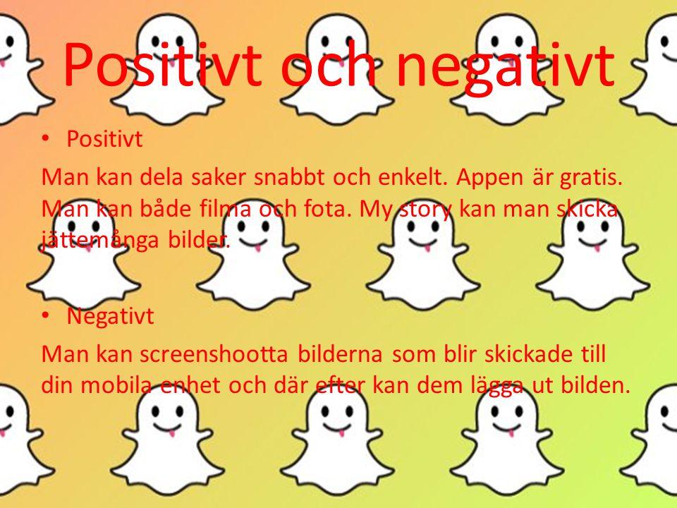 Positivt och negativt • Positivt Man kan dela saker snabbt och enkelt.