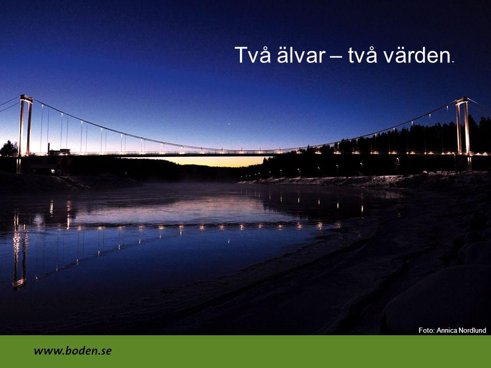 Två älvar – två värden. Foto: Annica Nordlund