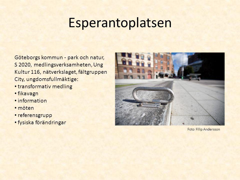 Esperantoplatsen Göteborgs kommun - park och natur, S 2020, medlingsverksamheten, Ung Kultur 116, nätverkslaget, fältgruppen City, ungdomsfullmäktige: