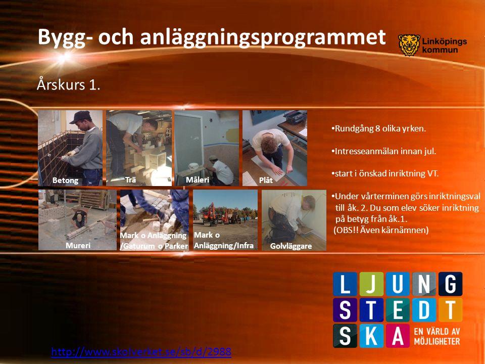 http://www.skolverket.se/sb/d/2988 Bygg- och anläggningsprogrammet Årskurs 2.