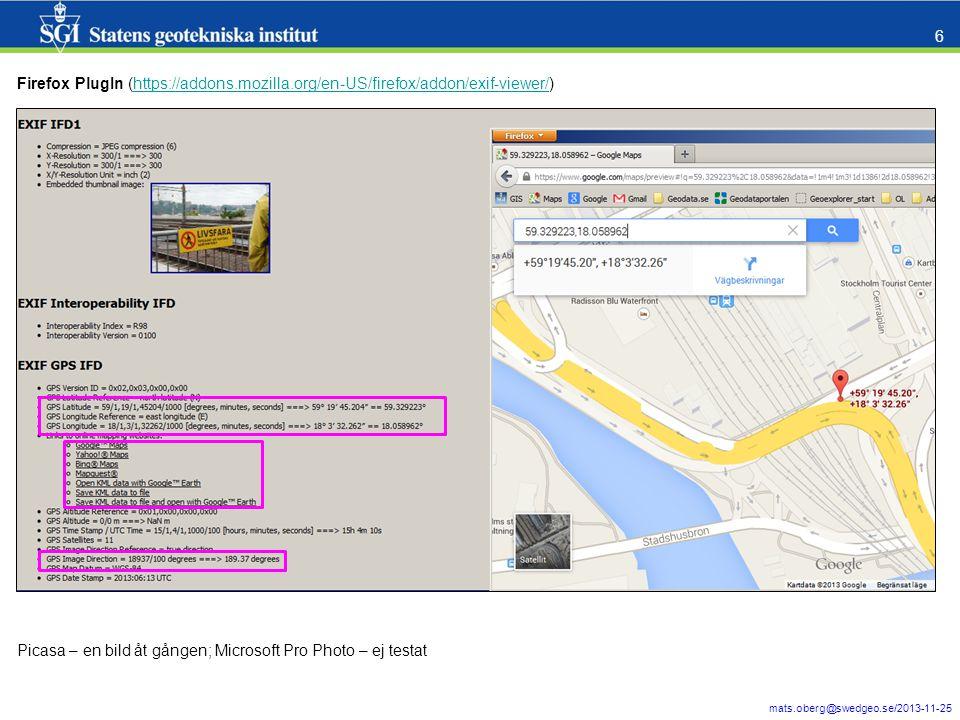 mats.oberg@swedgeo.se/2013-11-25 7 Windows 7 Utforskare