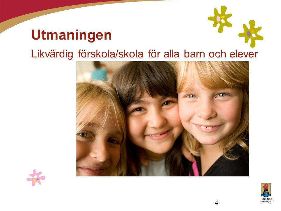 4 Utmaningen Likvärdig förskola/skola för alla barn och elever