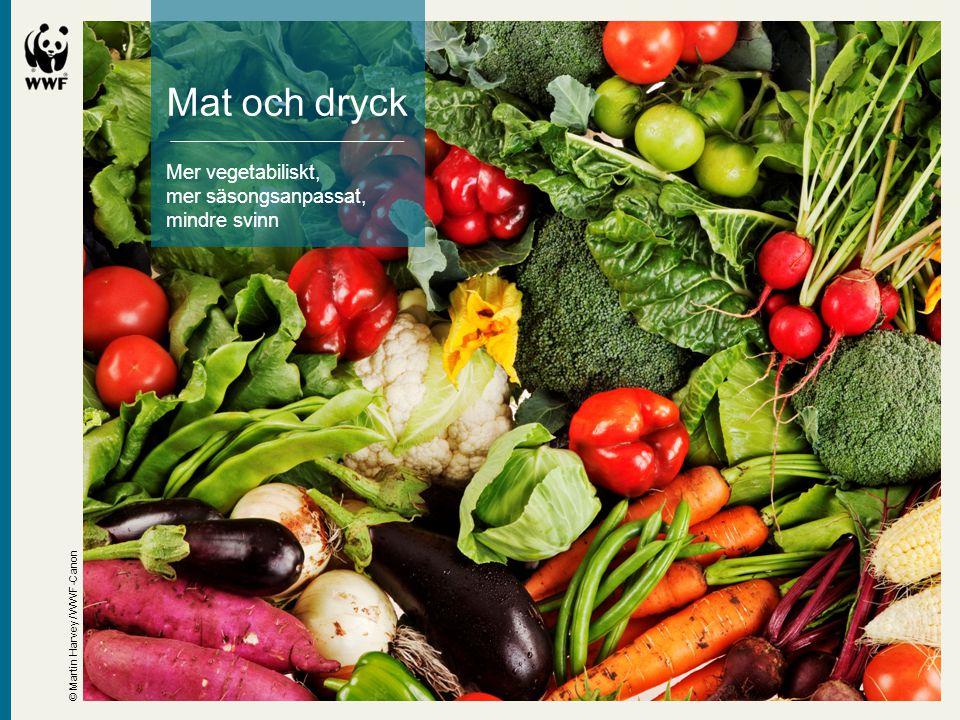 Mat och dryck Mer vegetabiliskt, mer säsongsanpassat, mindre svinn © Martin Harvey / WWF-Canon