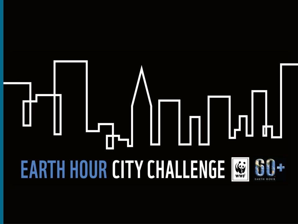 Earth Hour City Challenge 2010- 2013 •Första EHCC-pilot Sverige 2010-2011 •Första internationella piloten 2012-2013 lanserades i 6 länder •Samarbete med ICLEI •Utvärdering av högnivåjury •Utmärkelser till Oslo, Forli, Uppsala, San Francisco, Delhi, Vancouver