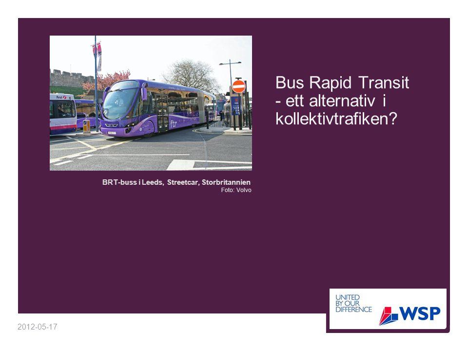 Spårväg, buss eller BRT på Spårväg Syd i Stockholm  Totalkostnader per år  Spårväg är 6 gånger dyrare per år än BRT, trots nybyggnation av bussgata  Kostnaderna för BRT är överskattade eftersom  befintliga körfält troligen kan användas åtminstone på delar av sträckan  driftskostnaden för vägen (5 Mkr/år) har räknats in i BRT:s och busstrafikens kostnader  Med BRT eller spårväg skulle restiden minska med 8 minuter jämfört med buss
