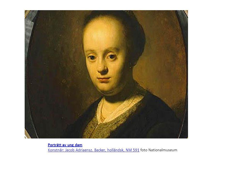 Porträtt av ung dam Konstnär: Jacob Adriaensz.