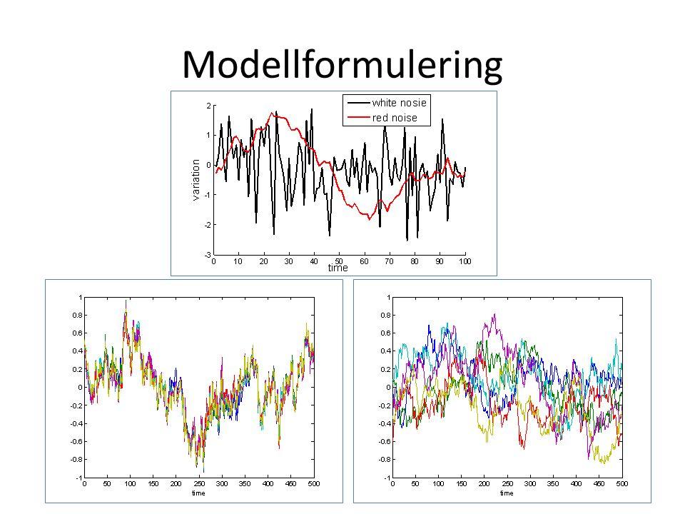 Modellformulering