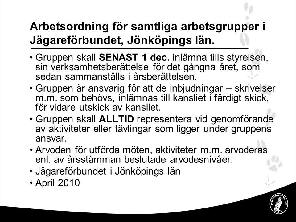 Framtid Ansvarig – Kenneth Andersson •Medlem – L-G Wikhult, Bo Arvidsson •Ungdom – Jan W, Adam L, L-G W •Jägarex.