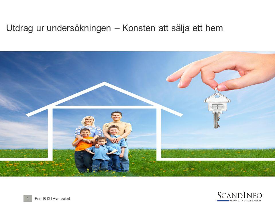 Utdrag ur undersökningen – Konsten att sälja ett hem Pnr: 16131 Hemverket1