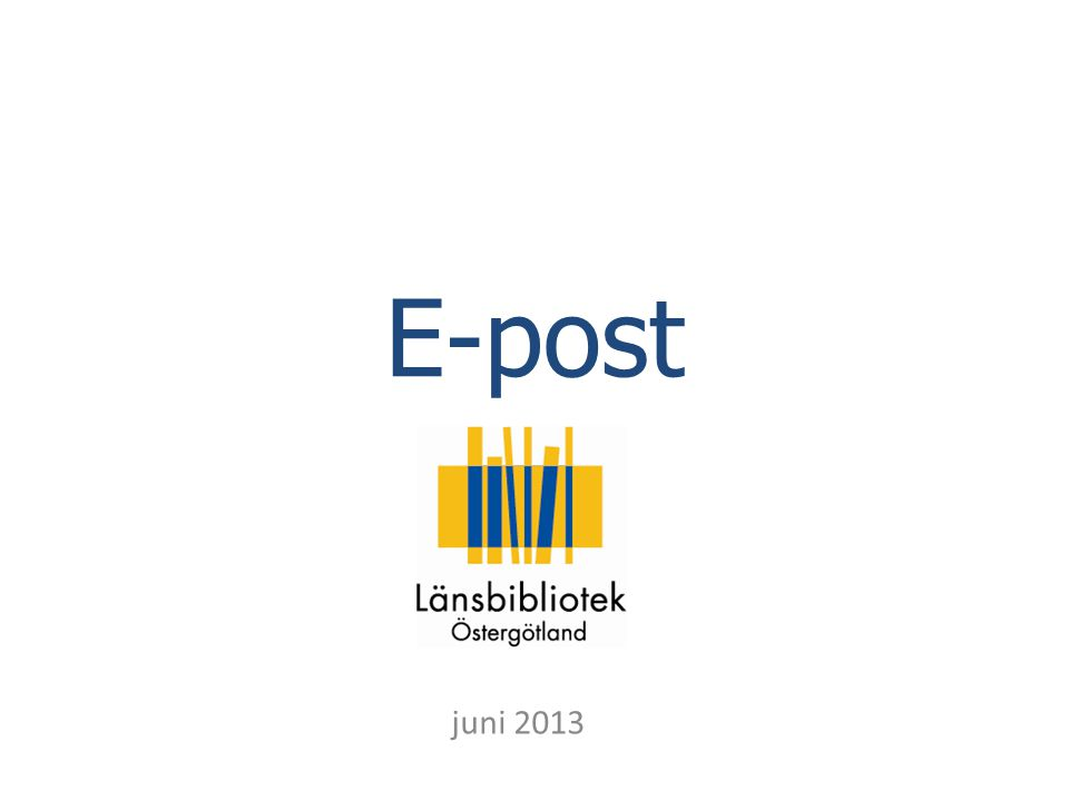 E-post juni 2013