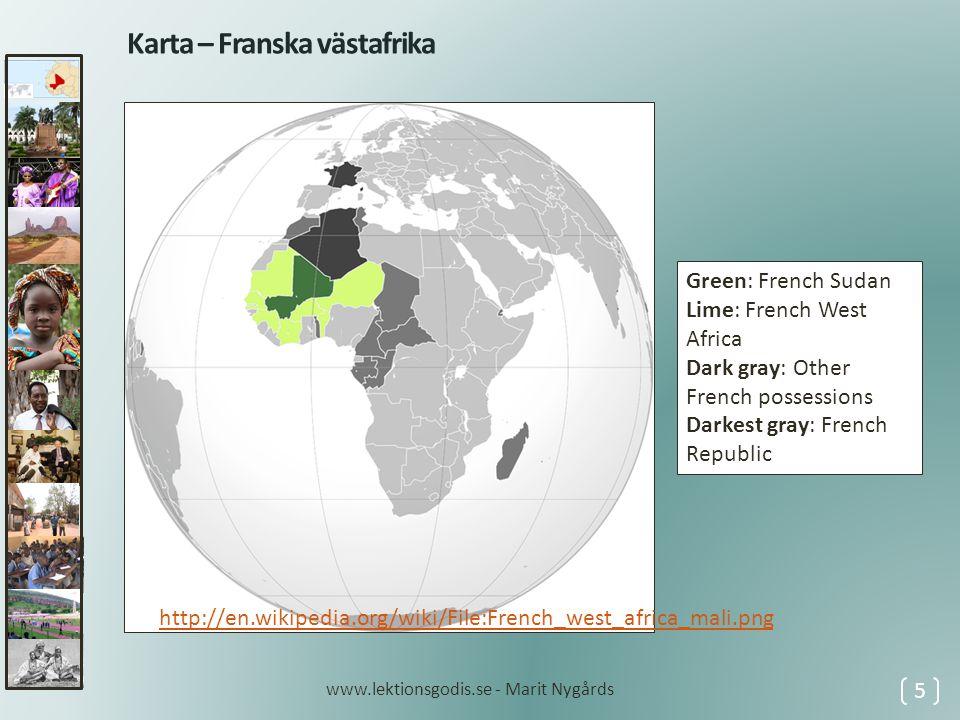 1968 • genomfördes en statskupp • makten togs över av en militärjunta • ledd av Moussa Traoré • tidigare enda partiet Union Soudanaise upplöstes 1976 • bildade Traoré partiet Malis demokratiska folkunion 1979 • valdes Traoré till president 1985 • omvaldes Traoré • under denna tid hade landet goda kontakter med Sovjetunionen 1986 • slöts ett avtal med grannlandet Burkina Faso om en omtvistad gräns 1990 • blev det sammandrabbningar mellan regeringstrupper och tuareger tuareger 6 1968 – 1990 tuareger www.lektionsgodis.se - Marit Nygårds