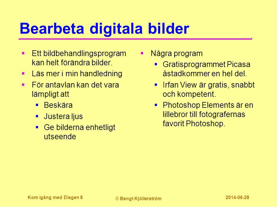 Bearbeta digitala bilder  Ett bildbehandlingsprogram kan helt förändra bilder.  Läs mer i min handledning  För antavlan kan det vara lämpligt att 