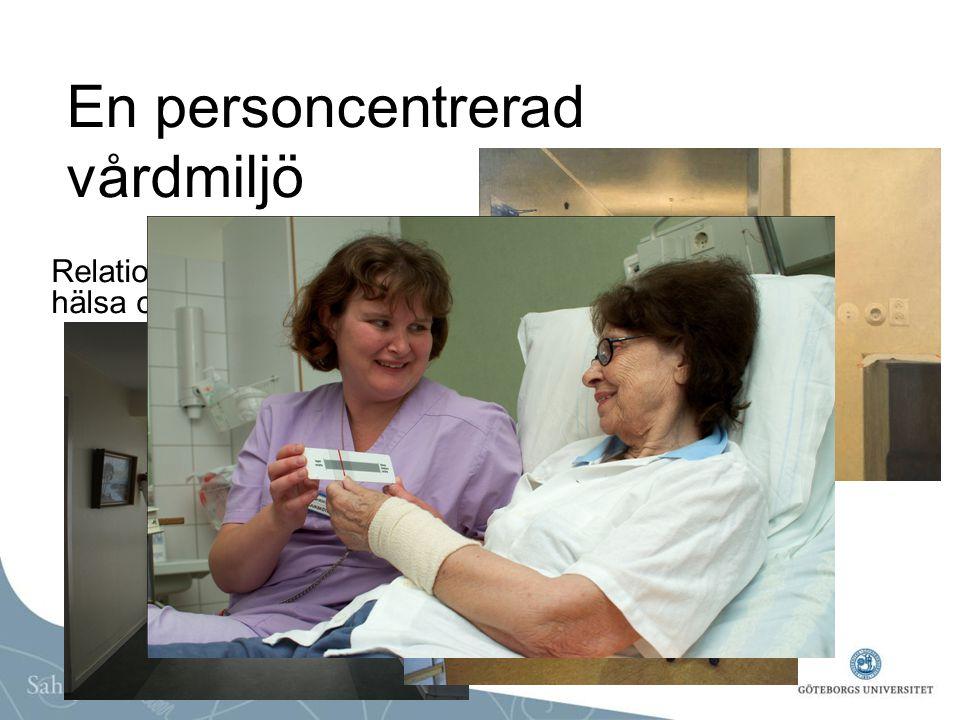 En personcentrerad vårdmiljö Relationen mellan omgivning, hälsa och omvårdnad