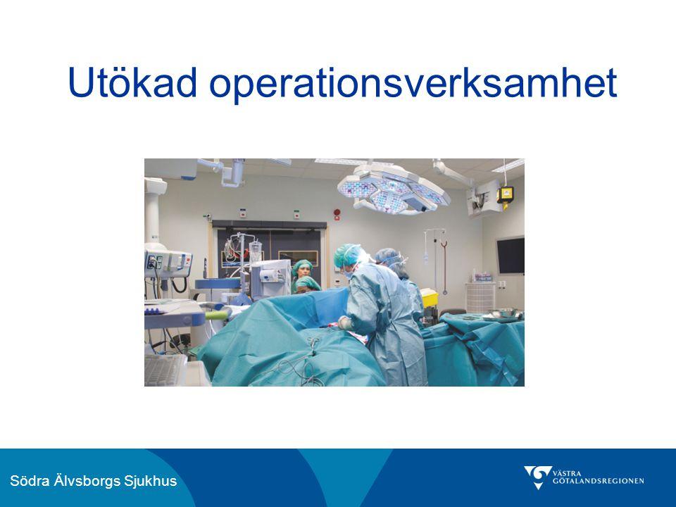 Södra Älvsborgs Sjukhus Utökad operationsverksamhet