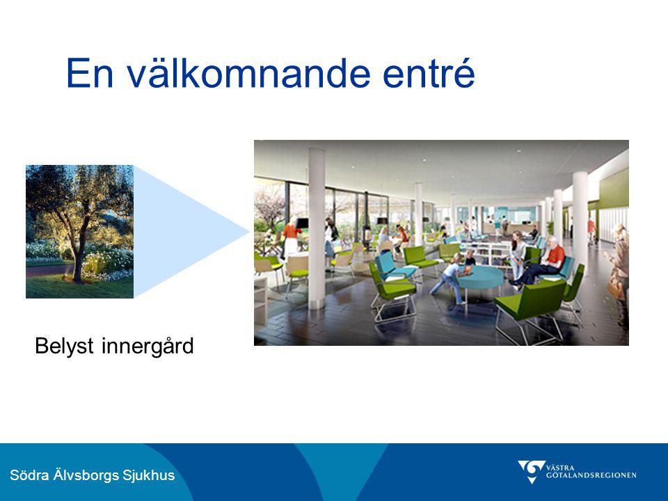 Södra Älvsborgs Sjukhus En välkomnande entré Belyst innergård