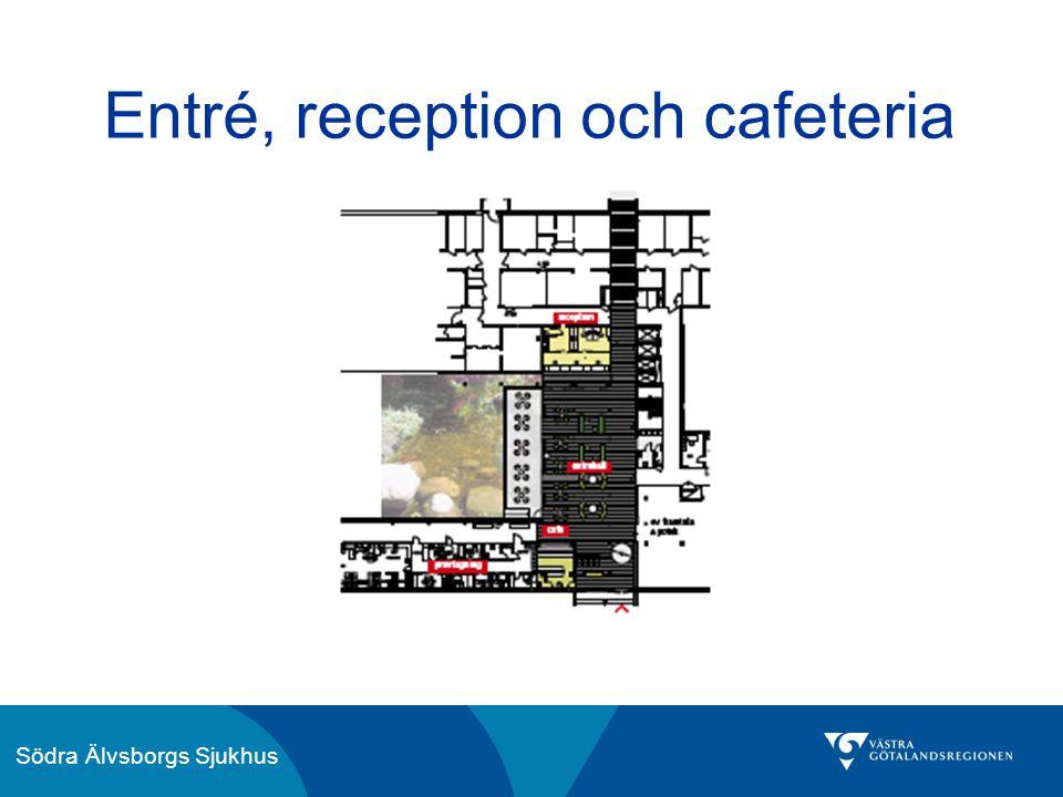 Södra Älvsborgs Sjukhus Entré, reception och cafeteria