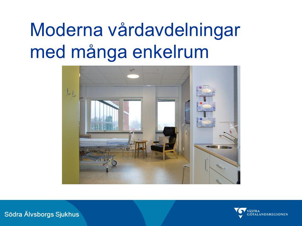 Södra Älvsborgs Sjukhus Moderna vårdavdelningar med många enkelrum