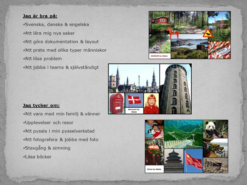 Kontakta mig: Mette Sömberg Bygatan 25 280 20 Bjärnum Mail: mette@eyetack.com Mobil:0708 84 49 49 Bifogat  CV Tack för att du läst ända hit.