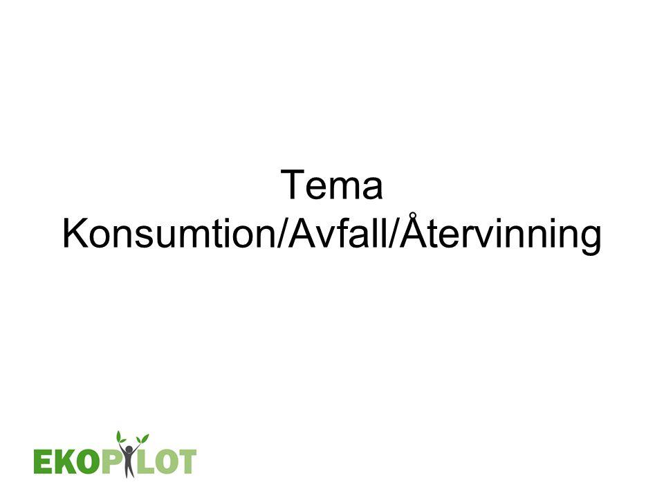 Tema Konsumtion/Avfall/Återvinning