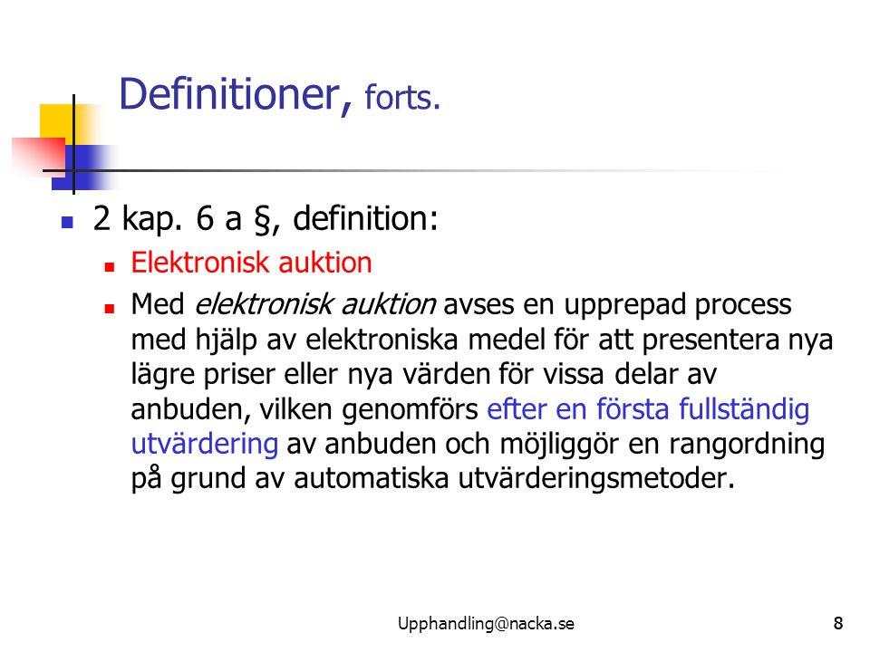 999 Definitioner, forts. 2 kap.