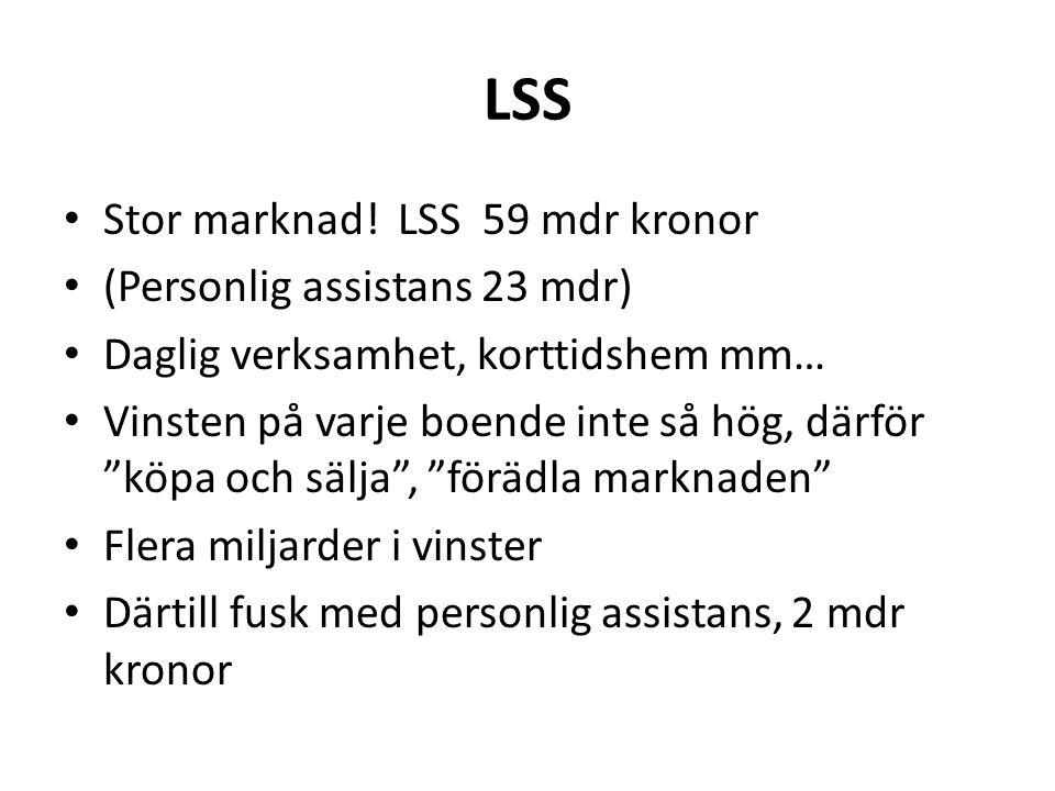 LSS • Stor marknad.