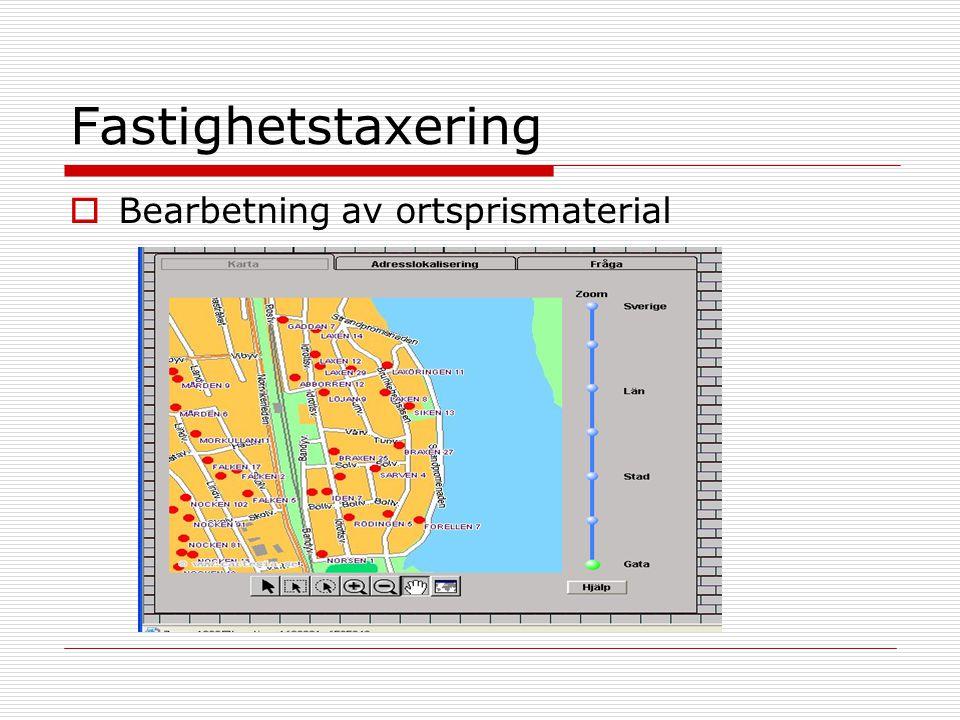 Fastighetstaxering  Bearbetning av ortsprismaterial