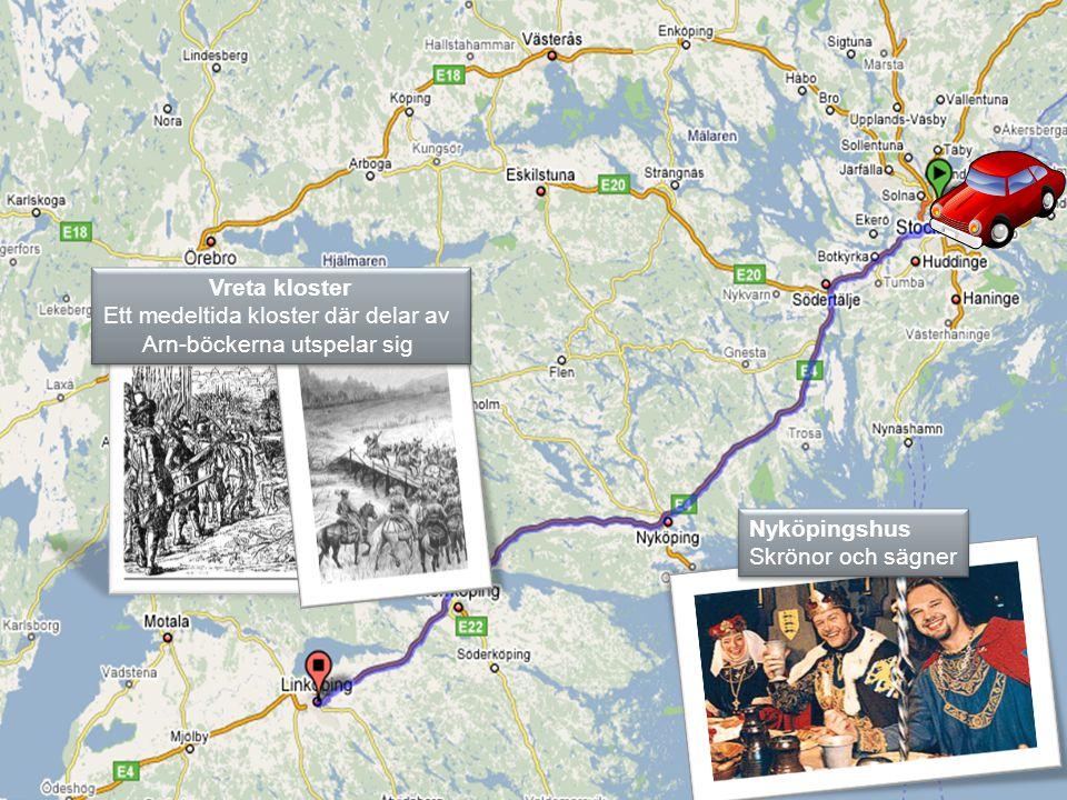 Vreta kloster Ett medeltida kloster där delar av Arn-böckerna utspelar sig Vreta kloster Ett medeltida kloster där delar av Arn-böckerna utspelar sig Nyköpingshus Skrönor och sägner Nyköpingshus Skrönor och sägner