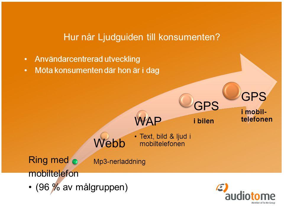Hur når Ljudguiden till konsumenten.