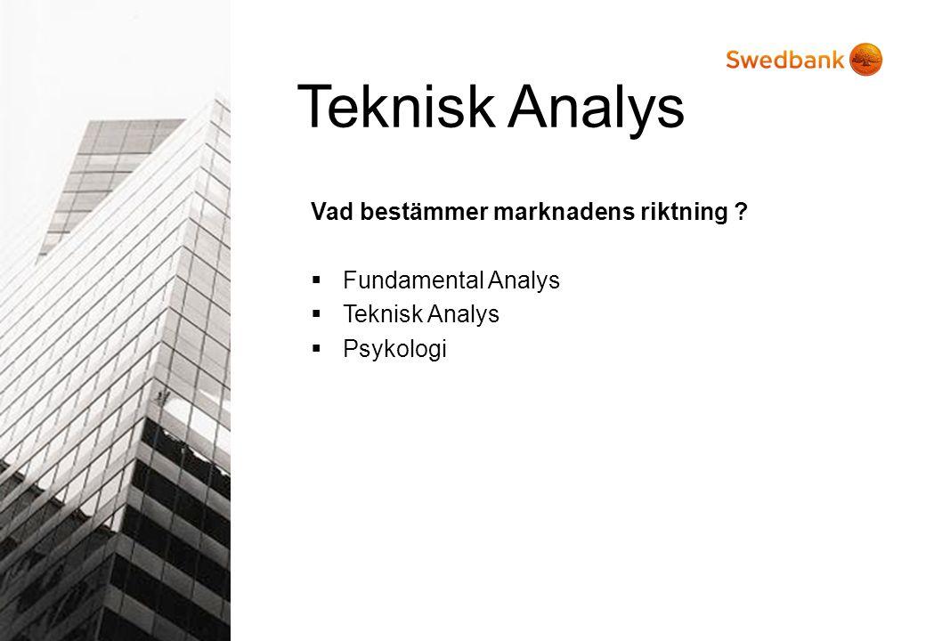 Vad bestämmer marknadens riktning ?  Fundamental Analys  Teknisk Analys  Psykologi