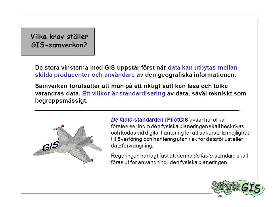 Vilka krav ställer GIS-samverkan.