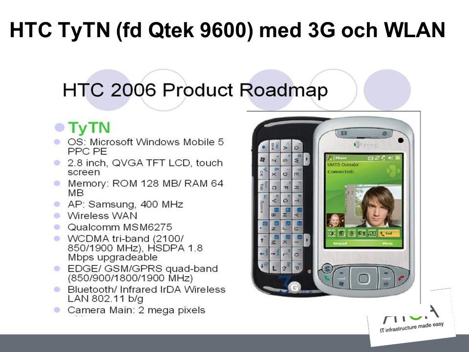 HTC TyTN (fd Qtek 9600) med 3G och WLAN