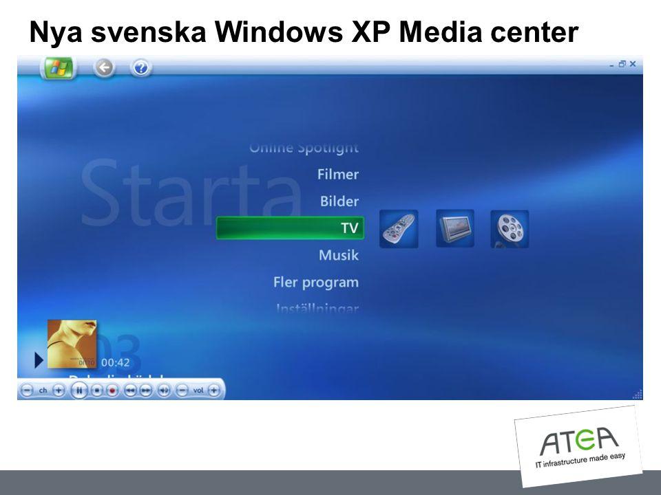 Nya svenska Windows XP Media center