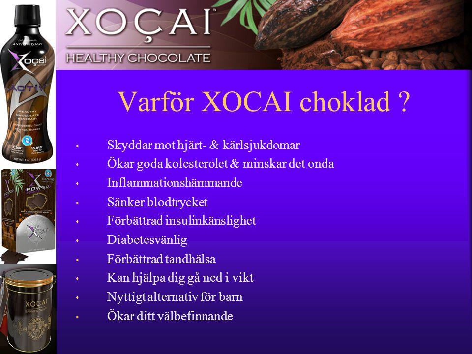 11 Varför XOCAI choklad ? • Skyddar mot hjärt- & kärlsjukdomar • Ökar goda kolesterolet & minskar det onda • Inflammationshämmande • Sänker blodtrycke