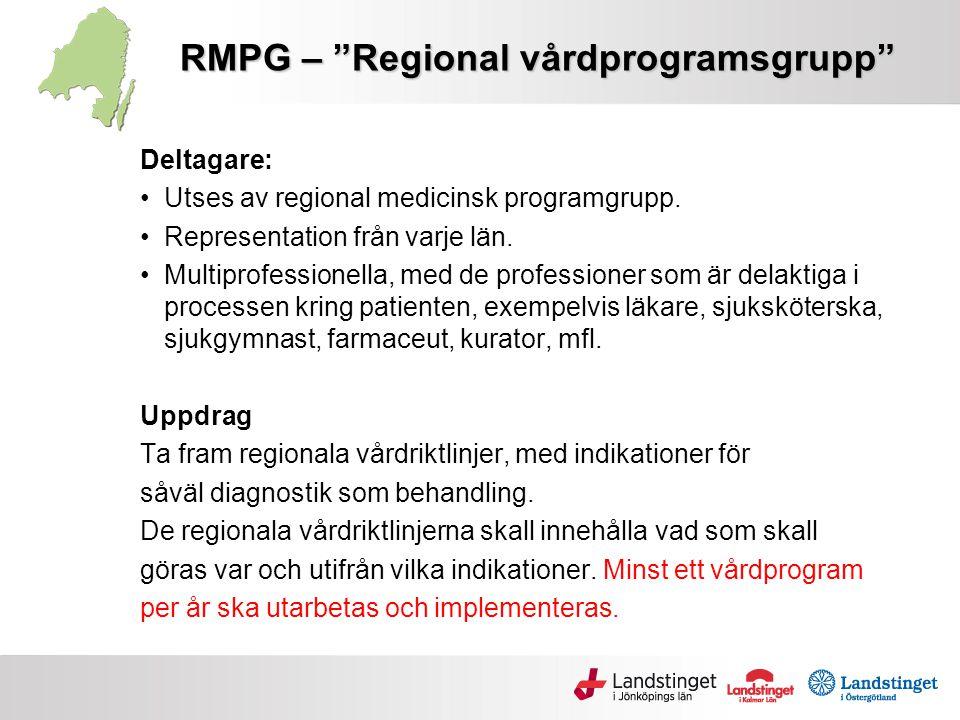 SYFTE Likvärdig och Säker Vård i regionen •Gemensamt kliniskt besluts- och kunskapsstöd •Vårdriktlinjer enligt standardiserad modell säker vård •Tydliggör ansvarsfördelning och vårdnivåerna 1-2-3 •Gemensamma indikationer som underlag för köp av regionvård likvärdig vård •Patientens väg i vården •Kvalitetsuppföljning •Patientsäkerhet