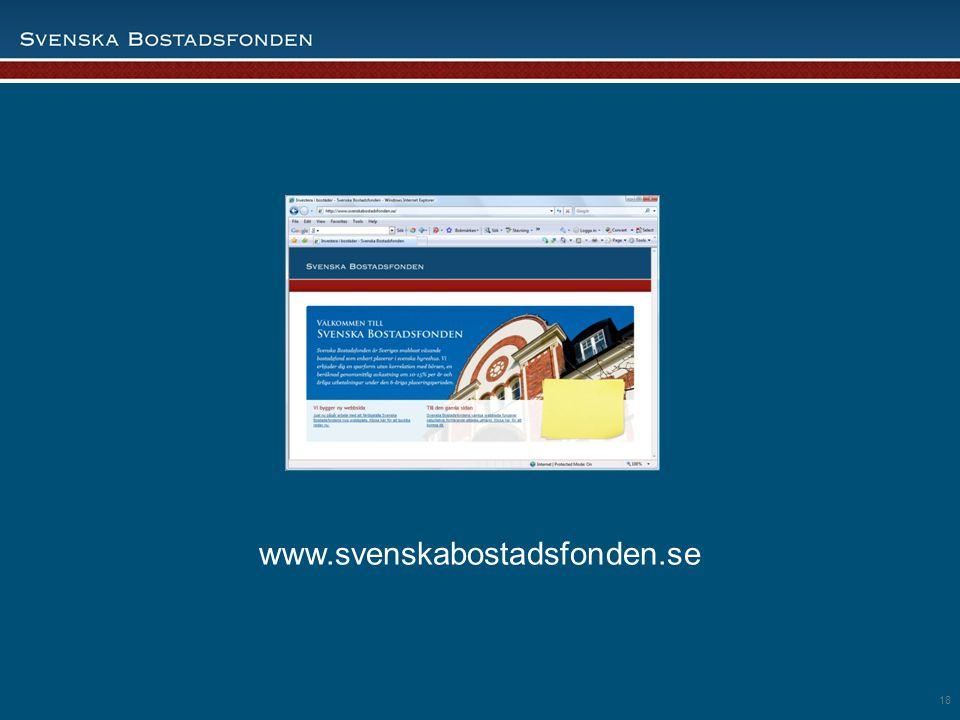 18 www.svenskabostadsfonden.se 18
