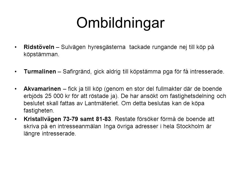 Lokal hyresgästförening Kristallskon finns representerade •Förhandlingsrådet •Styrelsen •Revisorer •Valberedning