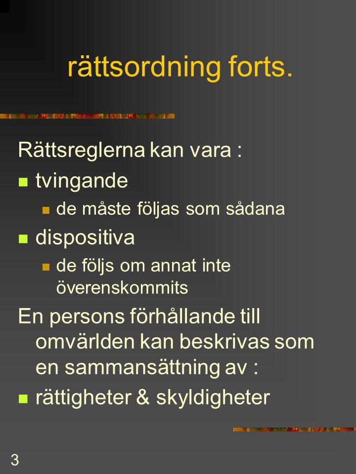 2 rättsordning forts.  Rättsregler publiceras i  Finlands författningssamling  Finlands lag (tryckt eller CD)  Finlex (Internet)  Principiell ski