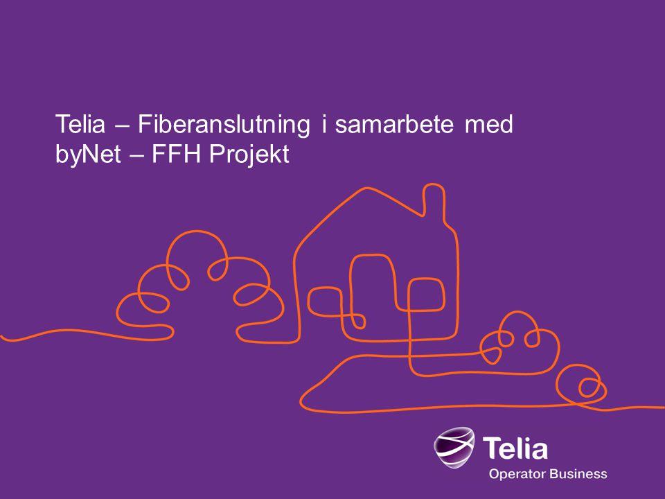 Telia – Fiberanslutning i samarbete med byNet – FFH Projekt