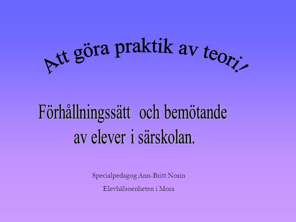 Specialpedagog Ann-Britt Norin Elevhälsoenheten i Mora