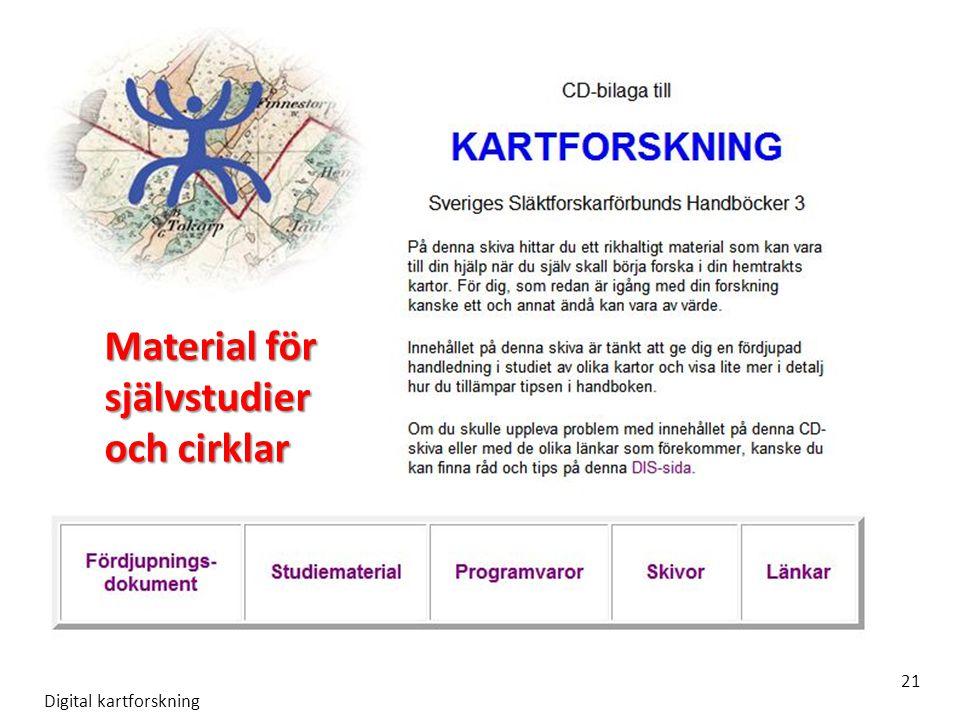 Digital kartforskning 21 Material för självstudier och cirklar