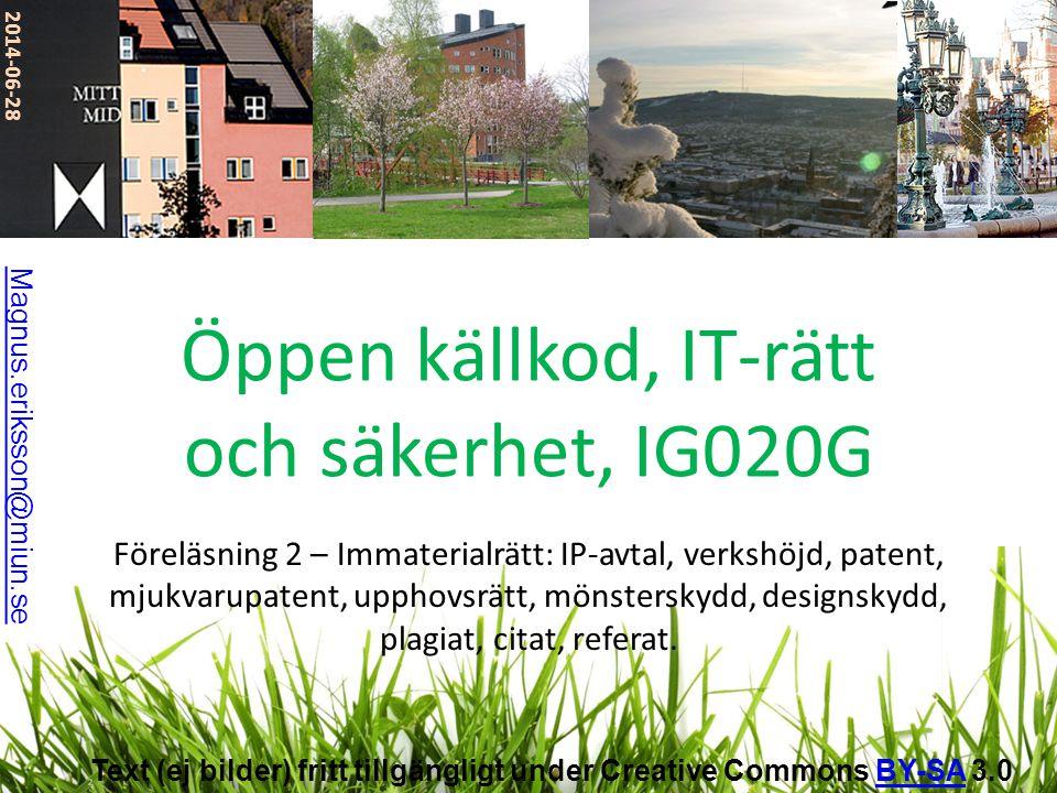 Designskydd, f.d.mönsterskydd • Eng. design patents.