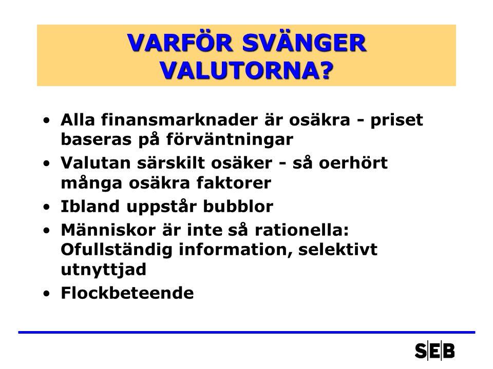 VARFÖR SVÄNGER VALUTORNA.