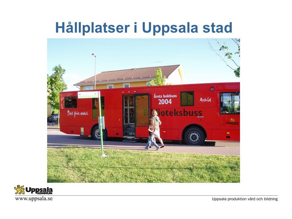 Hållplatser i Uppsala stad