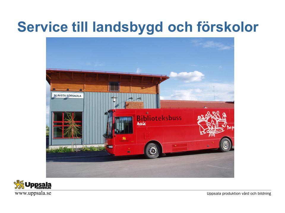 Service till landsbygd och förskolor