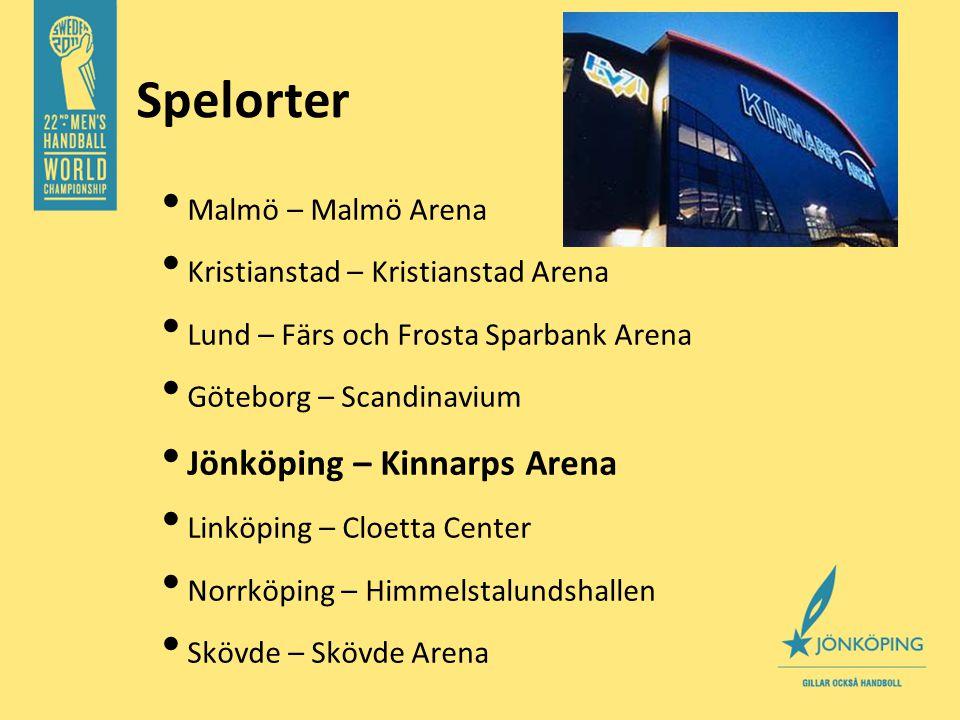 Spelorter • Malmö – Malmö Arena • Kristianstad – Kristianstad Arena • Lund – Färs och Frosta Sparbank Arena • Göteborg – Scandinavium • Jönköping – Kinnarps Arena • Linköping – Cloetta Center • Norrköping – Himmelstalundshallen • Skövde – Skövde Arena