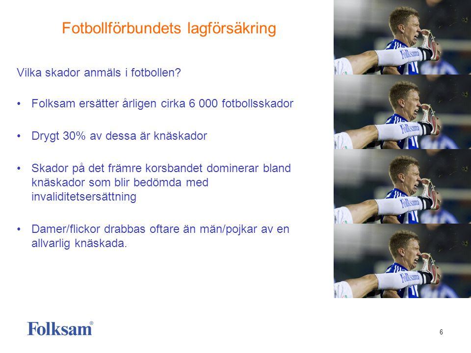 7 Folksam är idrottens försäkringsbolag • Drygt 40 andra idrotter har också motsvarande olycksfallsförsäkring i Folksam • RF:s Grundförsäkring omfattar alla landets idrottsföreningar.
