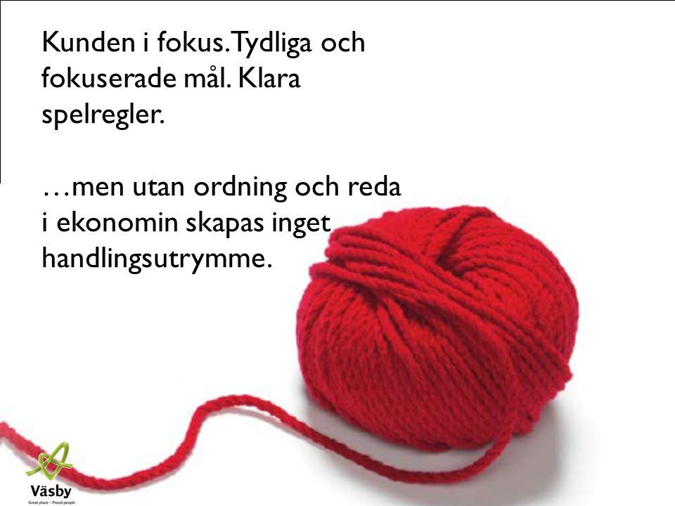 www.upplandsvasby.se Kunden i fokus. Tydliga och fokuserade mål. Klara spelregler. …men utan ordning och reda i ekonomin skapas inget handlingsutrymme